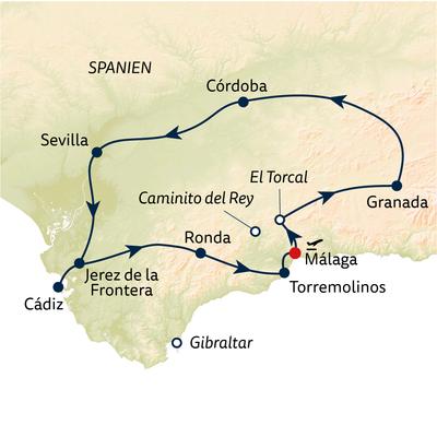 Busreise Andalusien – Stadt, Land, Küste