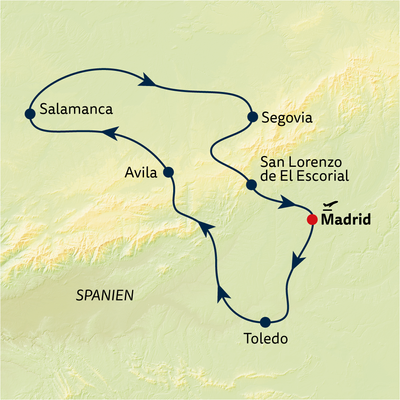 Busreise Madrid & Kastilien