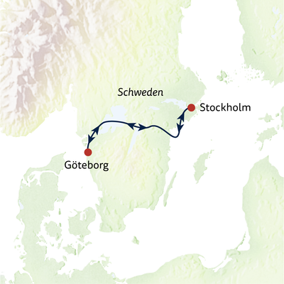 Göta Kanal kompakt 4-Tage Stockholm-Göteborg / MS Juno - Tour B