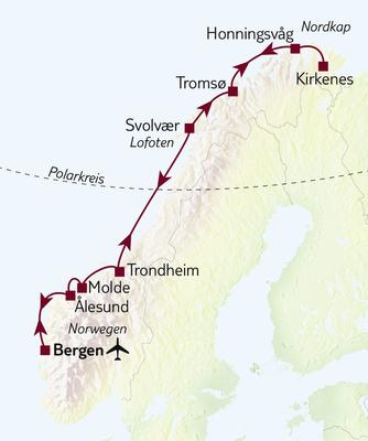 Hurtigruten Gruppenreise Nordlicht & Sterne