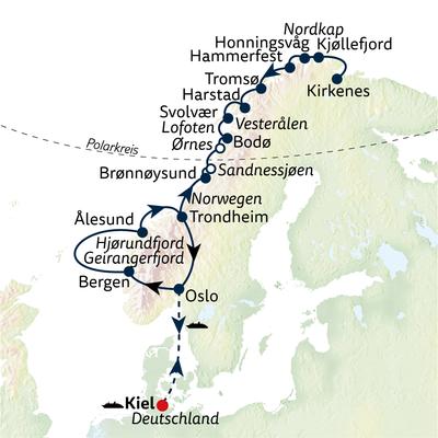 Hurtigruten Gruppenreise Die große Norwegen Panorama-Gruppenreise